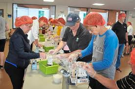 Salem Methodist in Pine packs 10000 meals for <b>Rise Against</b> Hunger