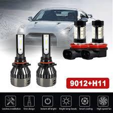 2013 Gmc Acadia Fog Light Kit Details About 4x Combo 9012 Led Headlight Kit Hi Low H11 Fog Bulbs For Gmc Acadia 2013 2019