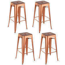 26 inch counter stools. Copper Industrial Metal 26-inch Counter Stool (Set Of 4) 26 Inch Stools