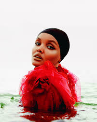 halima aden makes history as the first model to wear a hijab and burkini for sports ilrated swimsuit issue