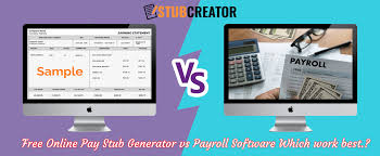 Online Pay Stub Generator Free Online Pay Stub Generator V S Payroll Software Which Work