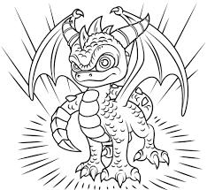 Skylanders Spyro Coloring Page Free Printable Coloring Pages