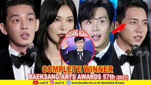 The baeksang arts awards 2020 will start at 4.50 p.m. The Complete Winner Baeksang Arts Awards 57th 2021 Youtube