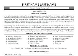 Financial Analyst Resumes Inspiration Financial Analyst Resume Summary Financial Analyst Resume Summary
