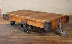 antique trolley cart coffee table industrial creative all furniture
