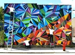 outdoor wall murals wonderful colorful outdoor geometric delicatessen mural s services fine art digital prints wall