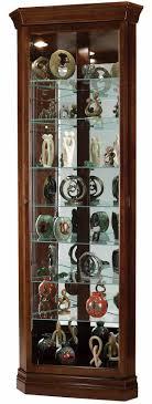 Glass Curio Cabinets With Lights Black Corner Curio Cabinet With Light Best Home Furniture Decoration