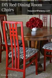 diy red dining room chairs, dining room ideas, painted furniture,  reupholster