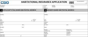 Typically, insurance protects the insured against various forms of risks. Habitational Insurance Application Centre For Study Of Insurance Operations