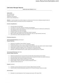Call Center Floor Manager Sample Resume Impressive Resume Example For Call Center Kenicandlecomfortzone