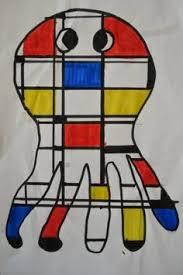 a faithful attempt markers visual art lessons art education lessons mondrian art