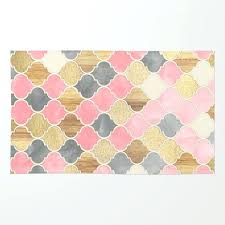 pink and gold rug lovely rose astonish marble metallic blush by emedics co interior design 3