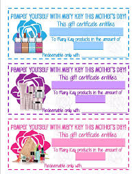 mary kay gift certificate template 1