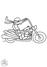 Coloriage Motocyclette Les Beaux Dessins De Transport A Imprimer L