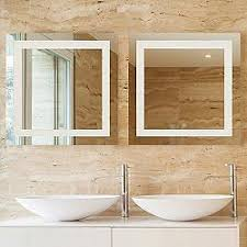 Modern bathroom mirrors Framed Spa Led Square Vanity Mirror Lumens Lighting Vanity Mirrors Modern Contemporary Bathroom Mirrors At Lumenscom