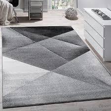 modern grey geometric rugs designer rug pile living room mat carpet small large