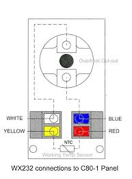 saunashop com sscp sscp1 sscp3 c80 1 sensor c150 sensor wx232 connections to c80 1 panel click to enlarge