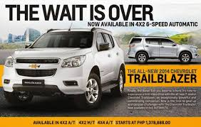 new car releases 2014 philippinesChevrolet PH upgrades Trailblazer releases new variant  Top Gear Ph