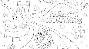 Holiday Coloring Page Happy Holidays Coloring Page Pages Holiday