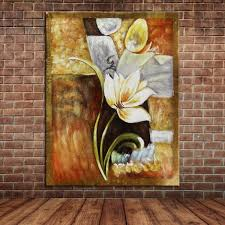 single flowers oil paintings hand painted canvas art for modern wall decoration 24x36inch no frame without