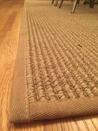 close up of a sisal area rug