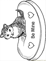 Small Picture B Kitten Coloring Page Free Cat Coloring Pages