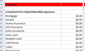 expenses breakdown template free google docs excel personal budget planner spreadsheet