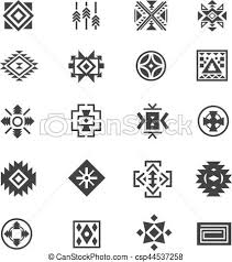 navajo tattoo designs. Traditional Tribal Mexican Symbols. Navajo Ethnic Culture Vector Tattoo Icons For Print. Designs O