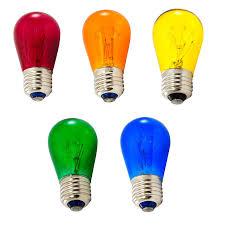 Multi Color S14 Medium Base String Light Bulbs - 11W - 25 Pack