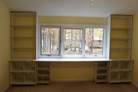diy built in desk and bookshelves american hwy