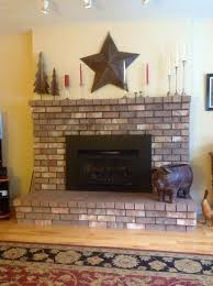 because my fireplace is raised i do not want it to look suspended plus my hubby is not a fan of painting the brick any opinions thanks