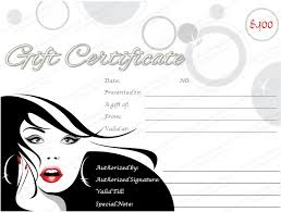 Free Templates Certificate For Hair Contest For Cosmetology Beauty