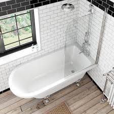 Free delivery Dulwich Freestanding Shower Bath and Bath Screen