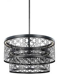 24 inch two tier outdoor led pendant