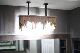 diy bathroom light fixture from ceiling