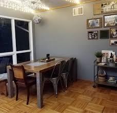DIY Industrial Dining Room Table Makeover
