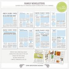 Newsletters Templates Family Newsletter Templates