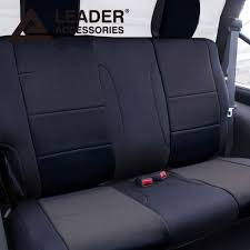 car seat cover rear solid bench custom fit 2016 2016 jeep wrangler 2dr black