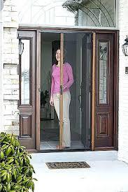 retractable front door screen