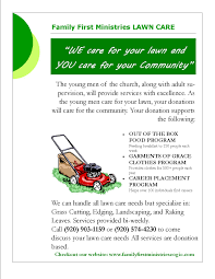 family first ministries inc cogic lawn care services