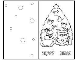 Insert photos, place stickers, change the font style and color, and edit the text to transform your. Christmas Card Coloring Pages Free Coloring Home