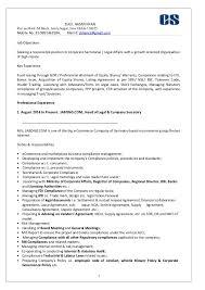 Resume Companies Extraordinary Resume Company Secretary Ziaul 28