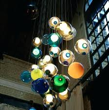 color ceiling light new glass ball pendant lamp chandelier glass spheres modern lamp color bubble head led crystal chandeliers large ceiling lights lighting