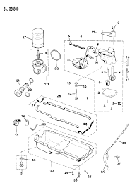 1990 jeep cherokee engine oiling diagram 0000197g