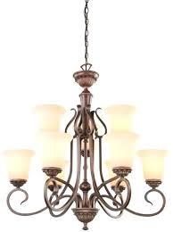 portfolio 5 light bronze chandelier portfolio lakes light oil rubbed bronze tinted glass tiered portfolio windham