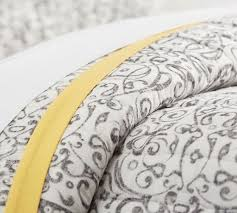 Clarissa Printed Quilt & Sham - Gray/Yellow | Pottery Barn & Roll Over Image to Zoom Adamdwight.com