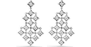 lyst david yurman quatrefoil chandelier earrings with diamonds in metallic