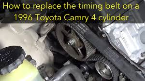How to replace the timing belt on a 96 Toyota Camry 4 cylinder 5S-FE ...