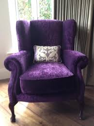 purple furniture. purple velvet wingback chair furniture t
