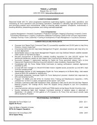 Logistics Manager Resume Cv Toreto Co Sample Account Examples Cover